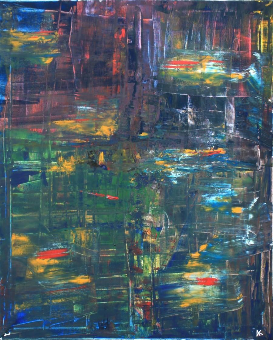 Peinture Mixte sur toile 90*70*2 Pièce unique