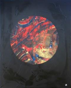 Peinture Mixte sur toile 92*72*2 Pièce unique